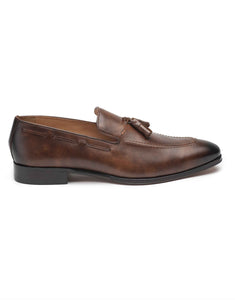 Dark Brown Tassel Loafer-HBDAR010