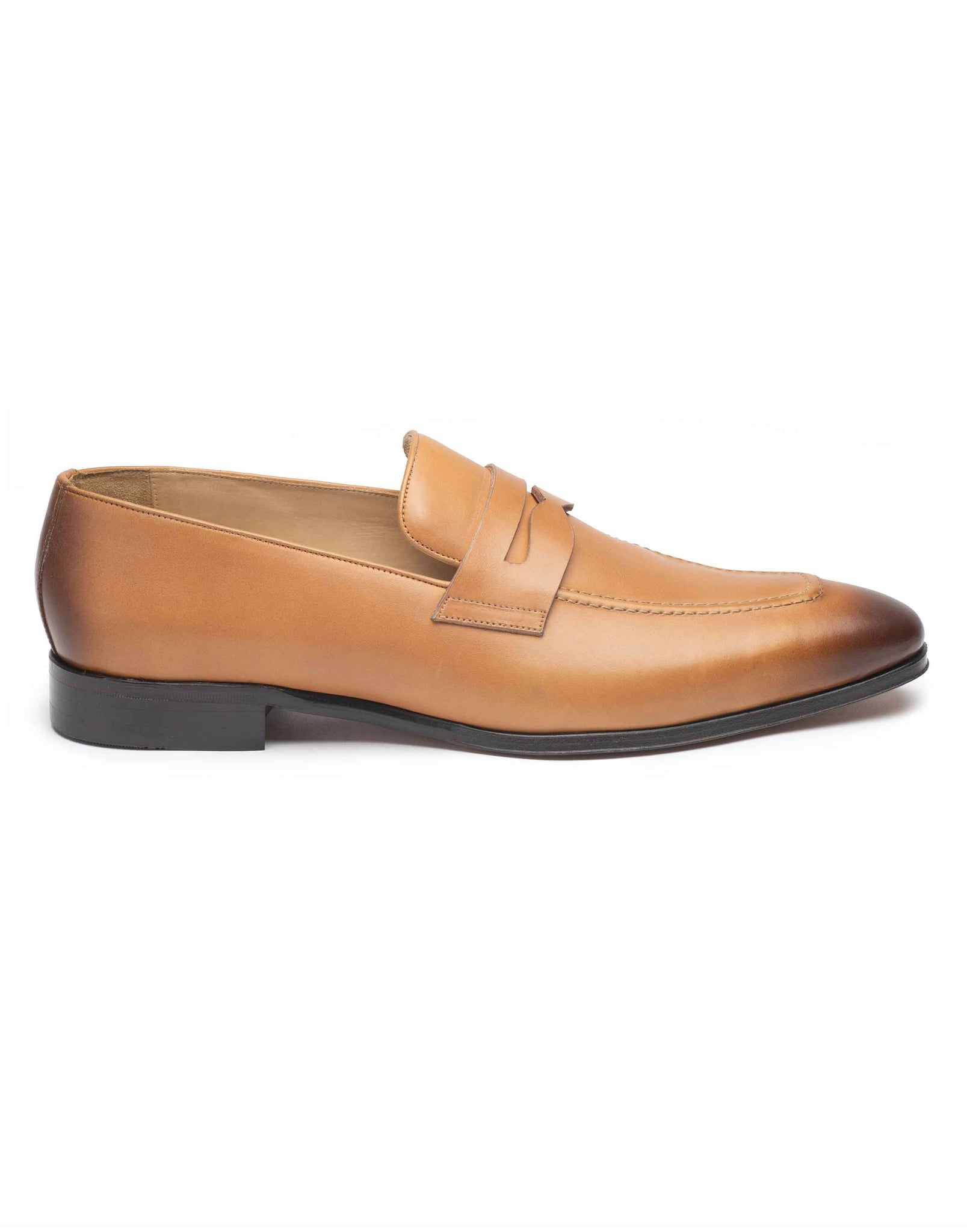 Tan Penny Loafer-HBDAR007