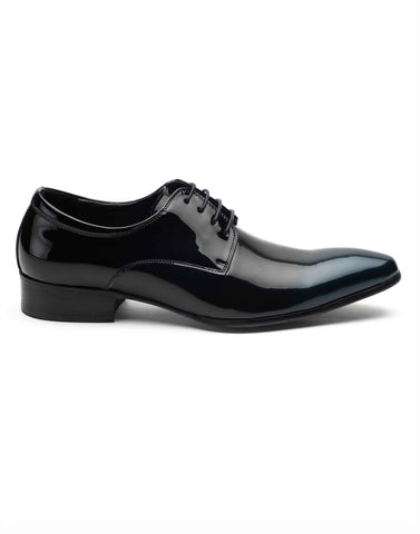 Luminesce Black Laceup Derby-RE7180-340