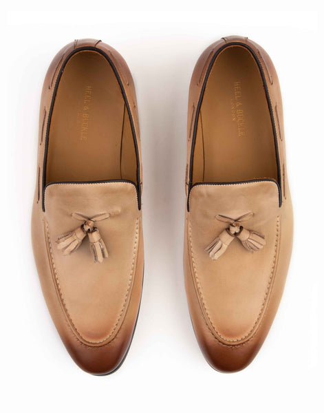 Beige Tassel Loafer-RE3679-001