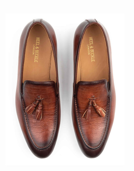 Cocoa Tassel Loafer-YD1818-4