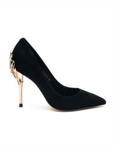 Ebony Point Toe Pump-A012-11