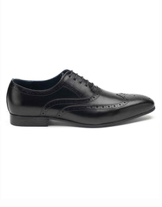 Charcoal Laceup Wingtip Oxford-RE3676-23