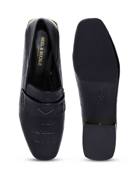Black Foldable Slip-on Shoes