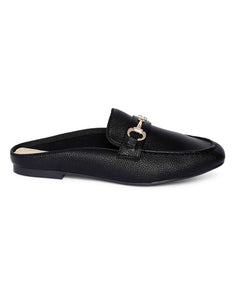Black Slip-on Mules