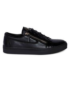 Black Side Zip Sneaker