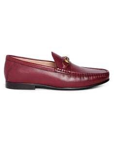 Burgundy Horse-bit Loafer