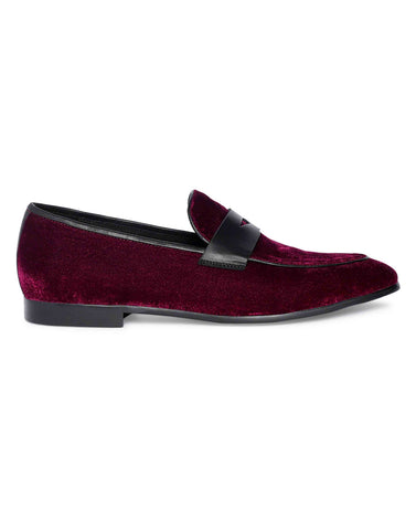 Burgundy Penny Loafer