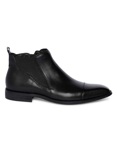 Charcoal Chelsea Boots