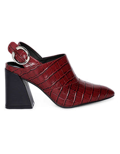 Marsala Chunck Block-Heeled Pumps