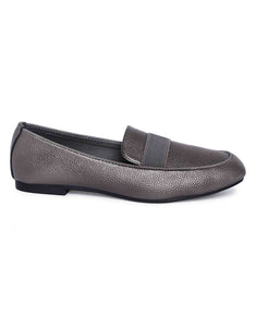 Metallic Grey  Loafers