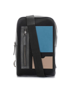 Colour-block Mesh Cross-body bag
