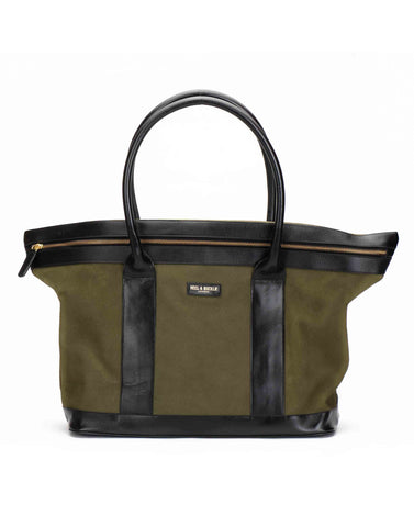 Olive Suede Tote