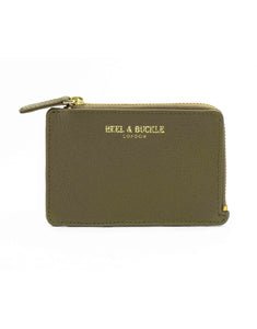 Olive and Black Card Holder