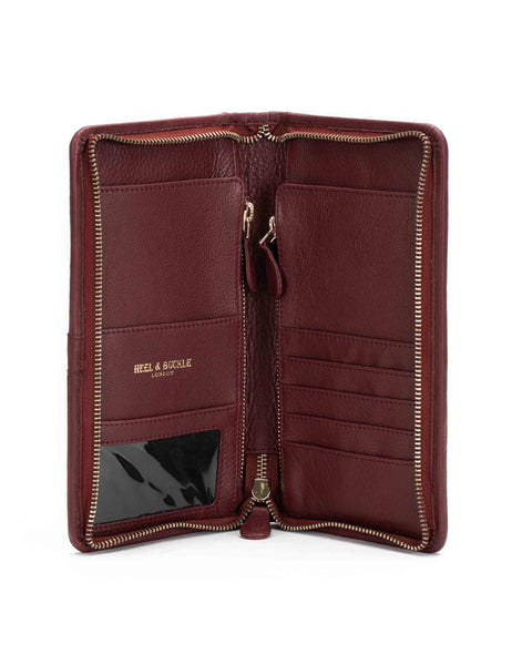 Burgundy Travel Wallet