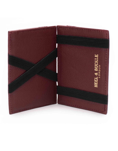 Burgundy Magic Wallet & Luggage Tag Set