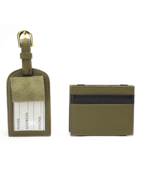 Olive Magic Wallet & Luggage Tag Set