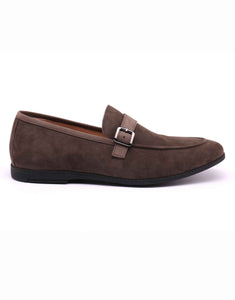 Grey Soft Suede Loafer