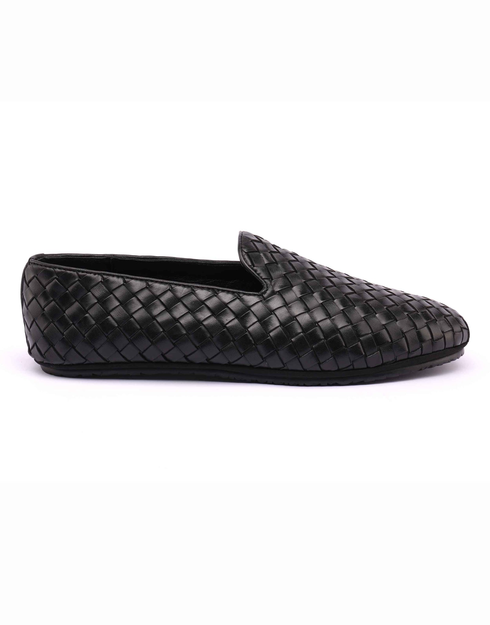 Black Woven Loafer