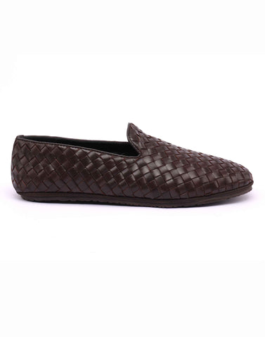 Brown Woven Loafer