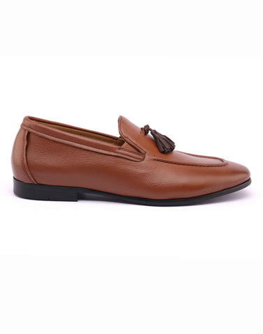 Tan Loafer With Brown Tassel