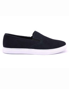 Navy Suede Slip-on