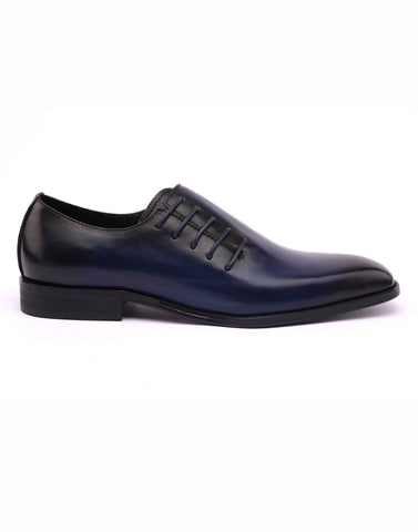 Blue Side Lace-up One Cut Oxford