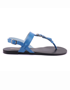 Powder Blue Thong Strap Sandal