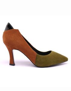 Martini Olive Foldable Ankle Heel