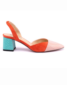 Amber Colour-block Slingback