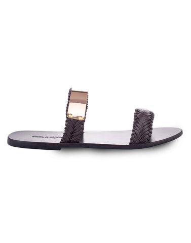 Metallic Strap Slipper