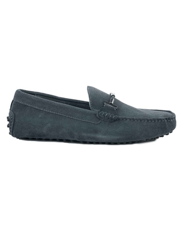 London Grey Suede ripped Loafer