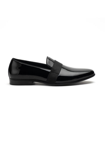 Patent glossy mocassin