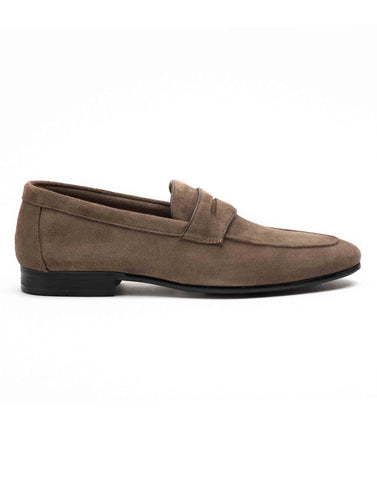 Mosey Grey Penny Loafers