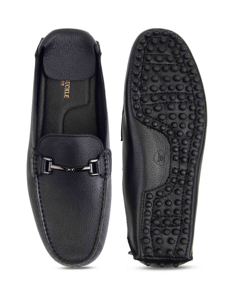 Bare Black Slipons