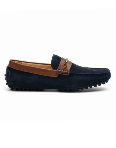 Suede Navy Drivers