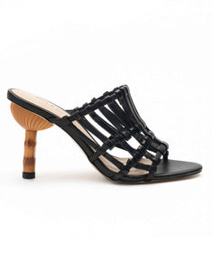 Black Strappy Heel Sandals
