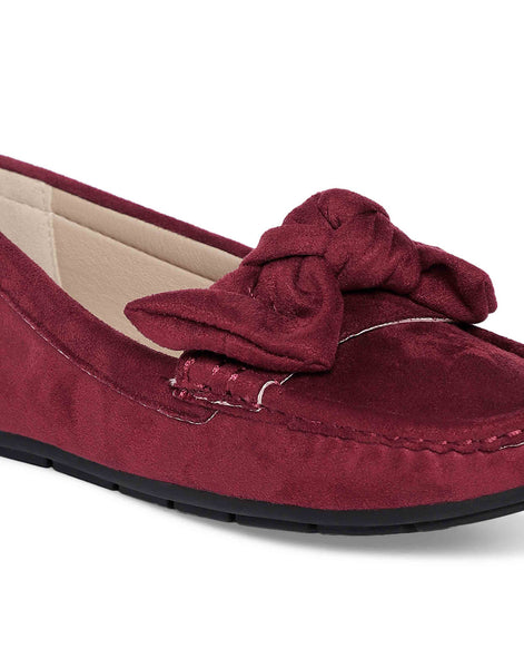 Wine Bow-Tie Loafers