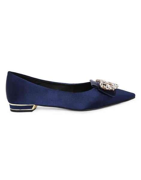 Navy Ballerinas