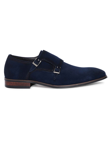 Navy Suede Double Monk