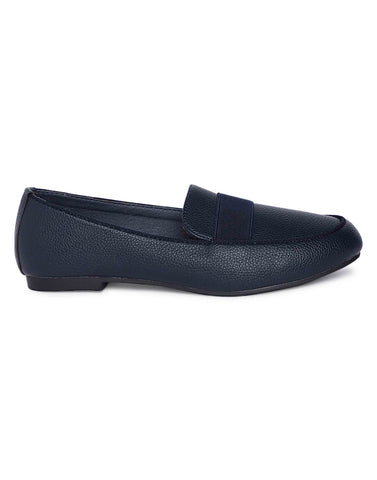Metallic Navy  Loafers