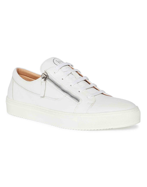 White Side Zip Sneaker