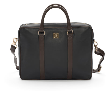 Navy & brown laptop Bag