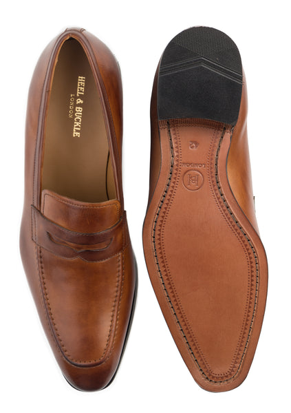 Brown Penny Loafers Shoes