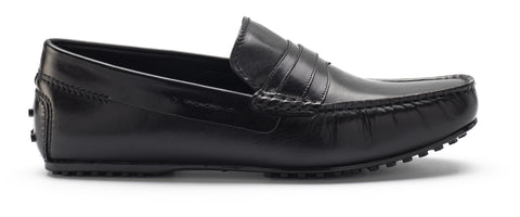 Heel & Buckle London Black Driver Loafers Shoes