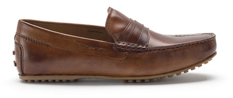 Heel & Buckle London Tan Driver Loafers Shoes