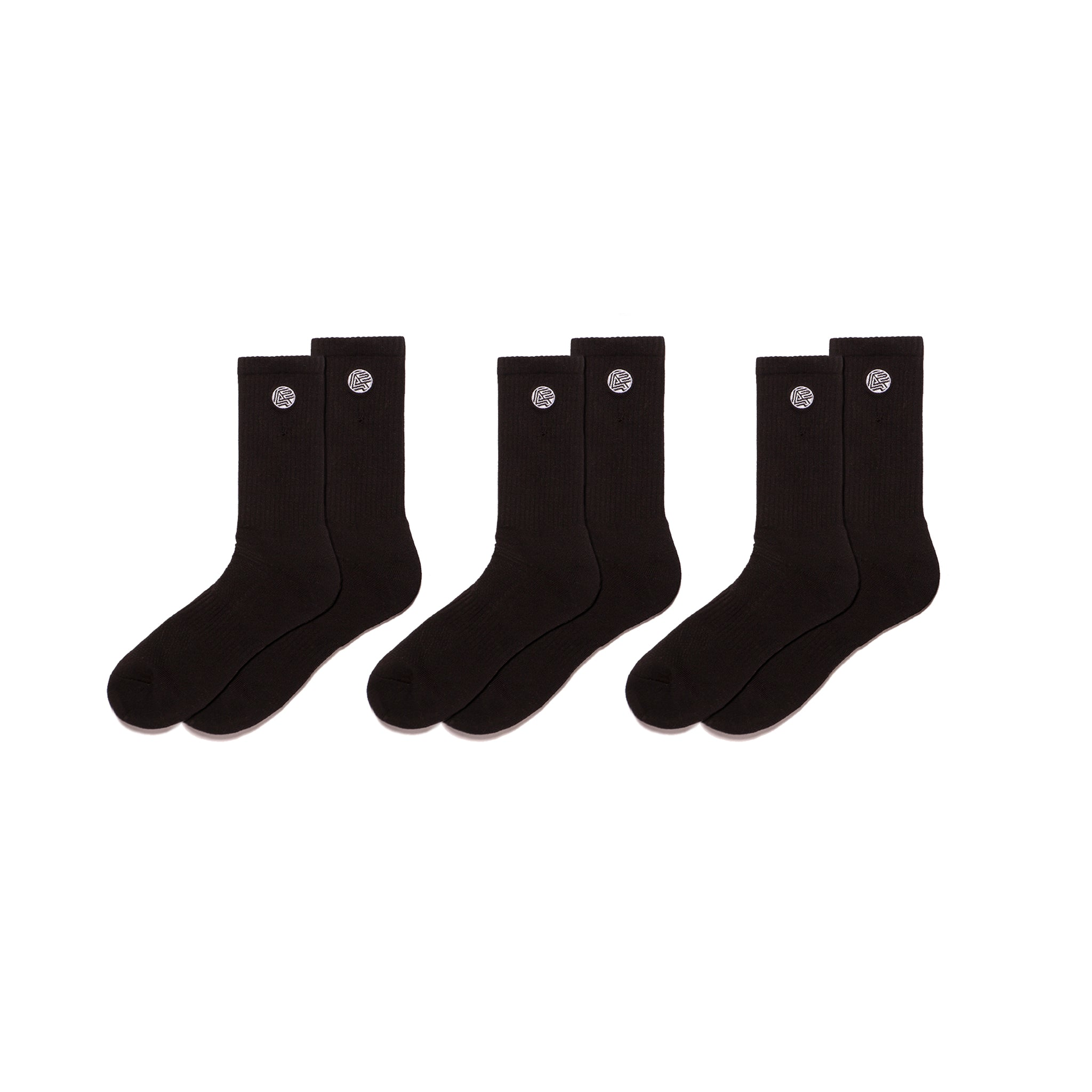 A&P Athletic Socks (Pack of 3) - BLACK