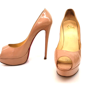 Christian Louboutin Litght Pink Patent Leather Pumps