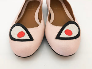 FENDI, Pink Monster Ballerina Flats