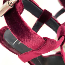 Load image into Gallery viewer, Giuseppe Zanotti Burgundy Jem Curved Wedges
